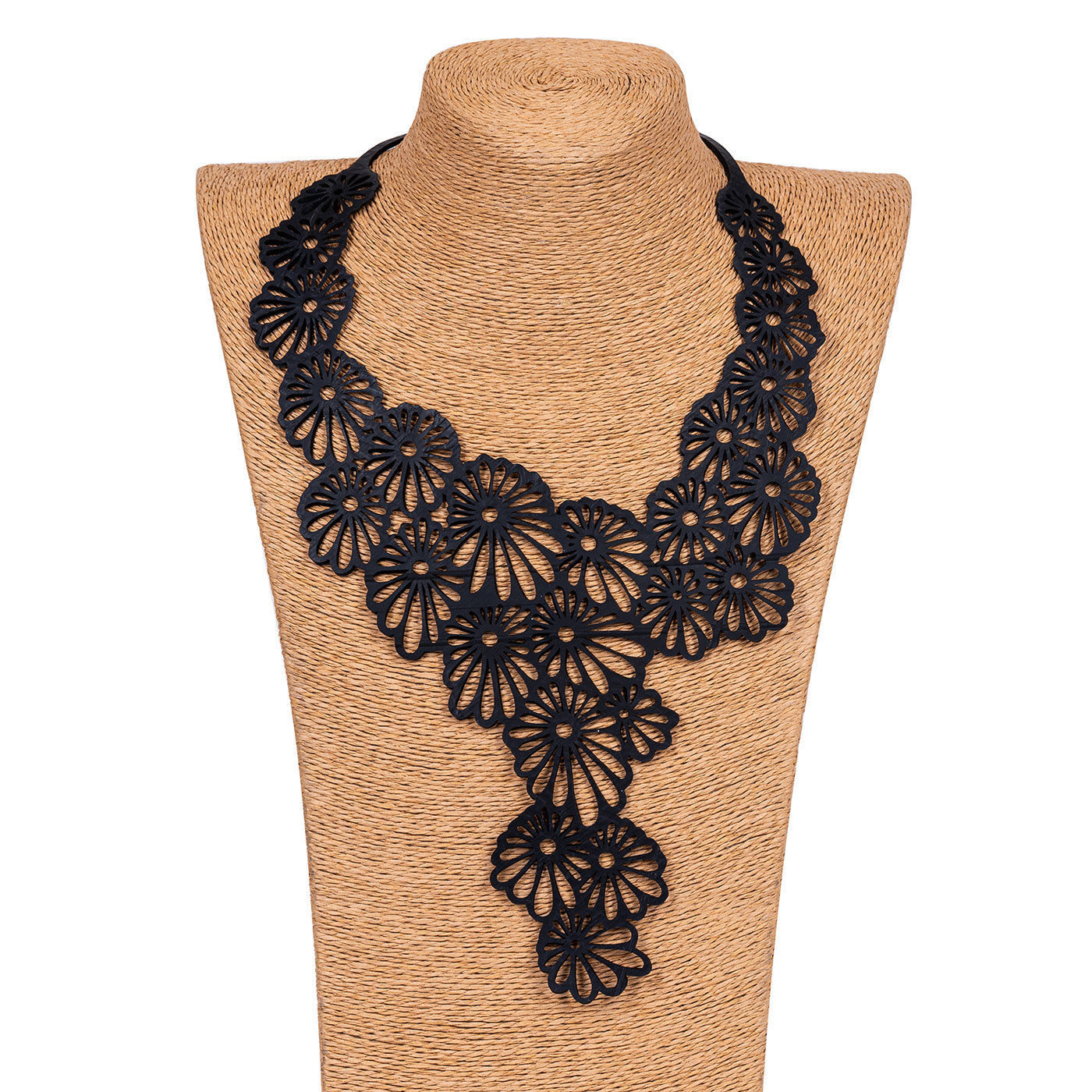 Daisy Statement Inner Tube Necklace by Paguro Upcycle