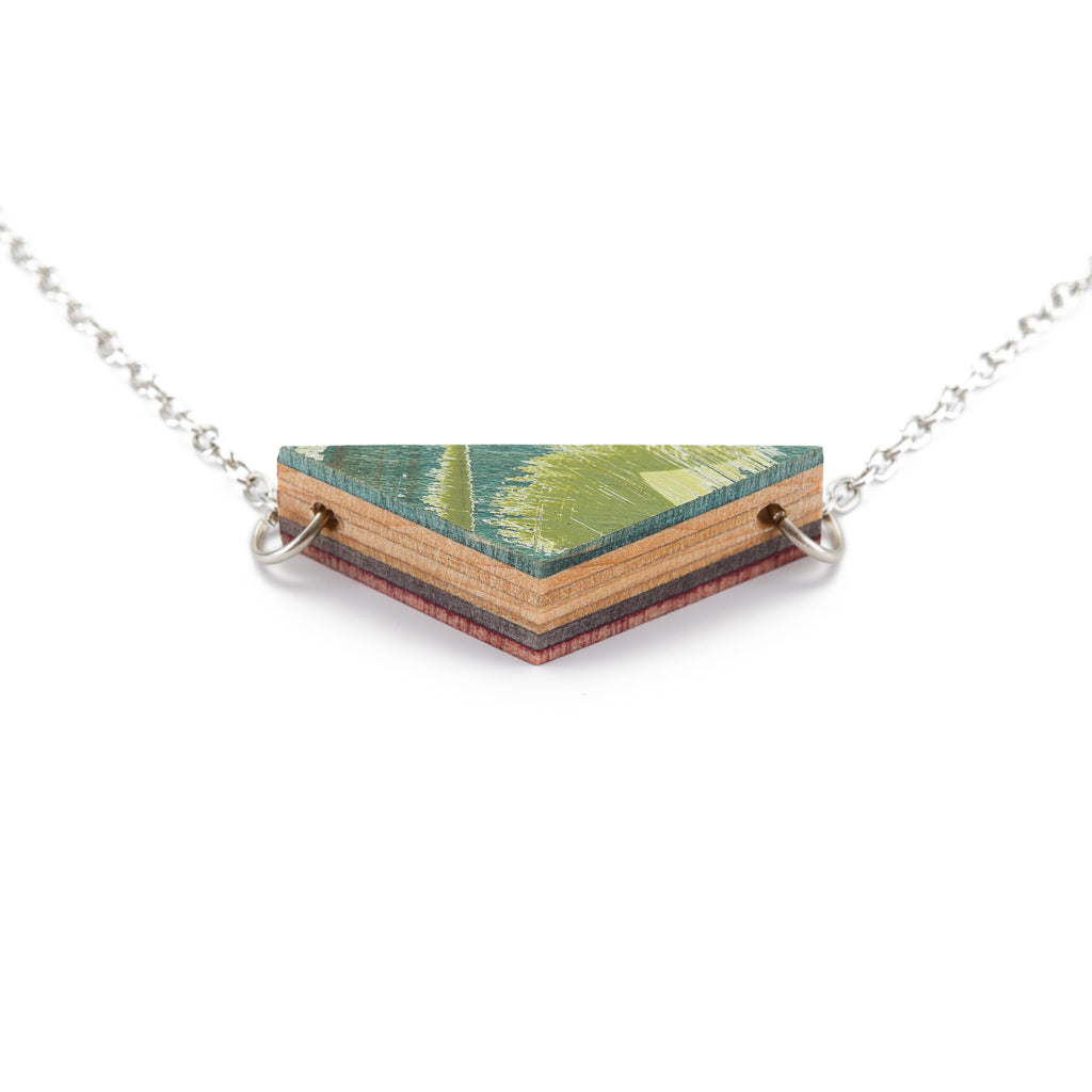 Prisma Recycled Skateboard Necklace by Paguro Upcycle