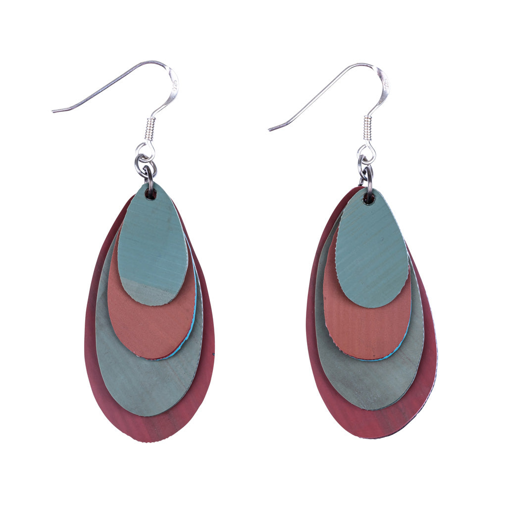 Raindrop Recycled Rubber Earrings by Paguro Upcycle
