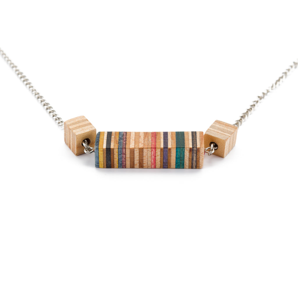 Recta Recycled Skateboard Necklace by Paguro Upcycle