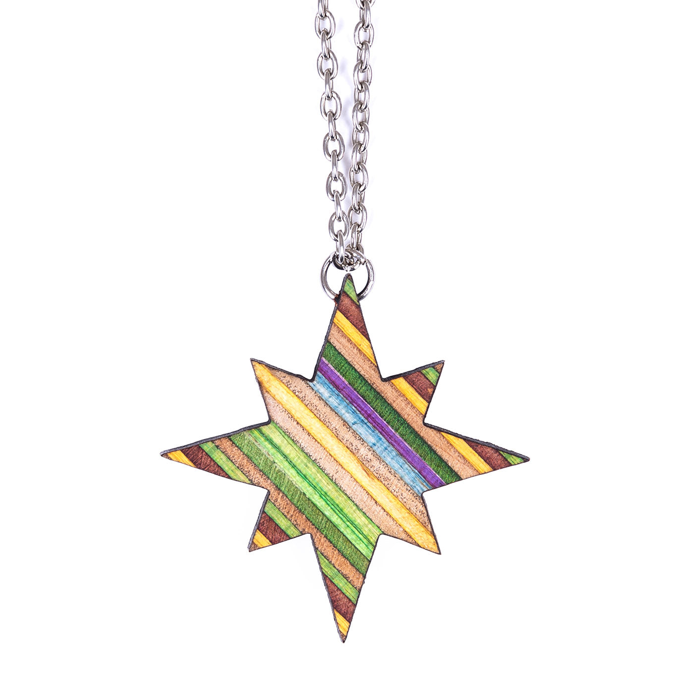 Sirius Star Recycled Skateboard Necklace