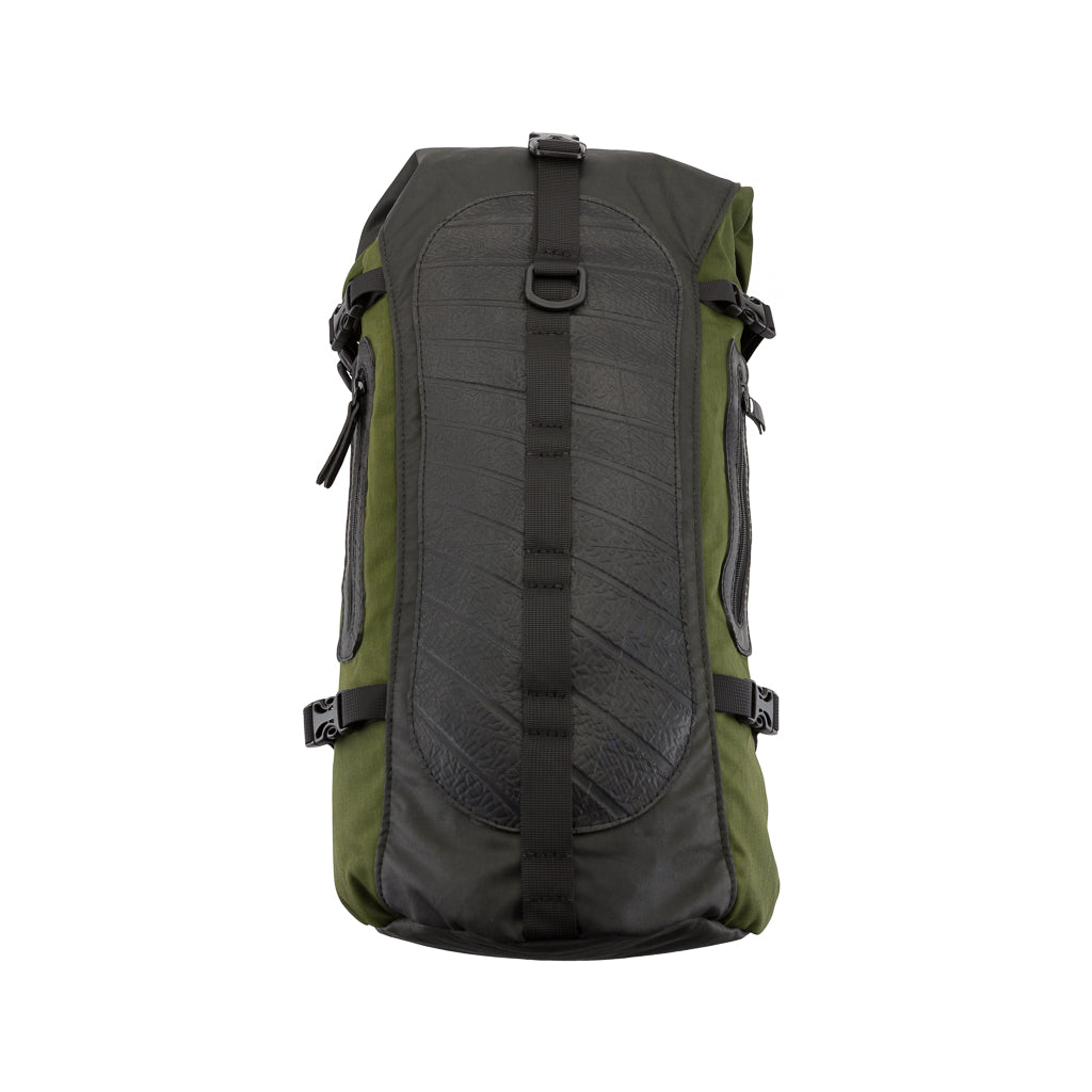 Soldier Waterproof Vegan Backpack with Laptop Compartment by Paguro Upcycle