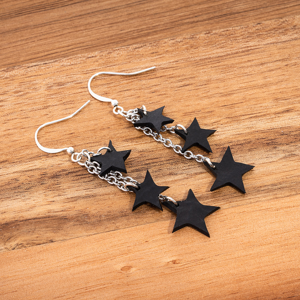 Stars Eco Friendly Earrings by Paguro Upcycle