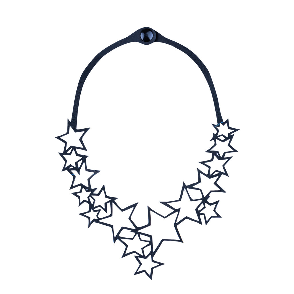 Star Upcycle Inner Tube Necklace by Paguro Upcycle