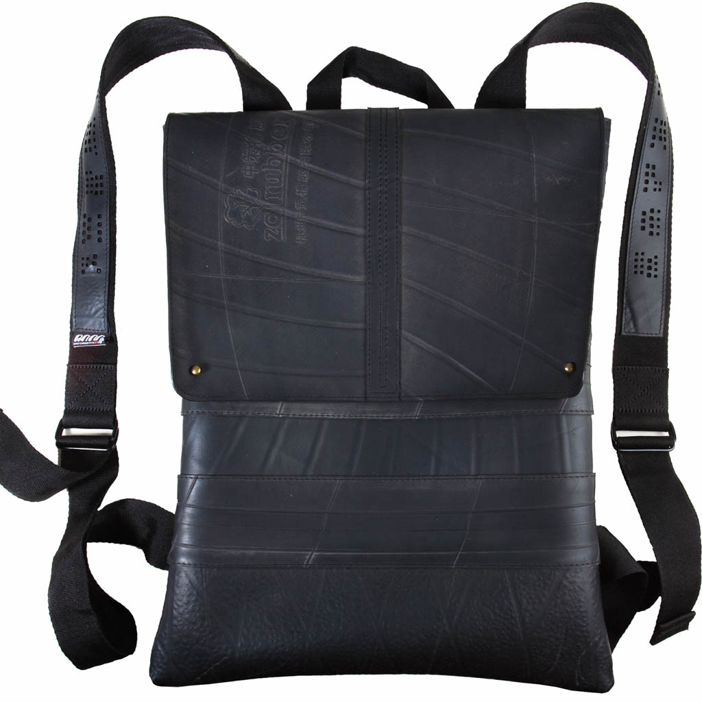 Ando Slimline Inner Tube Vegan Backpack by Paguro Upcycle