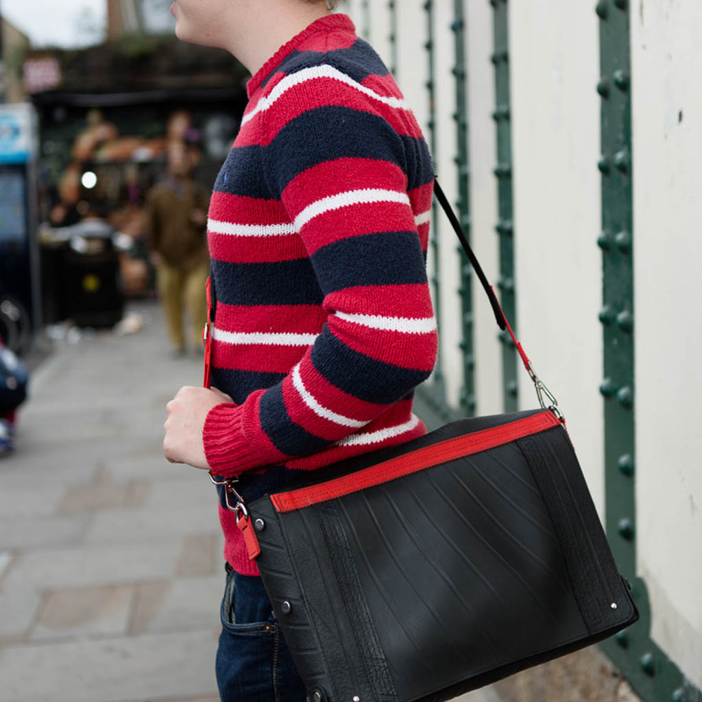 Feby Recycled Rubber Satchel & Vegan Messenger Bag (3 colours available) by Paguro Upcycle