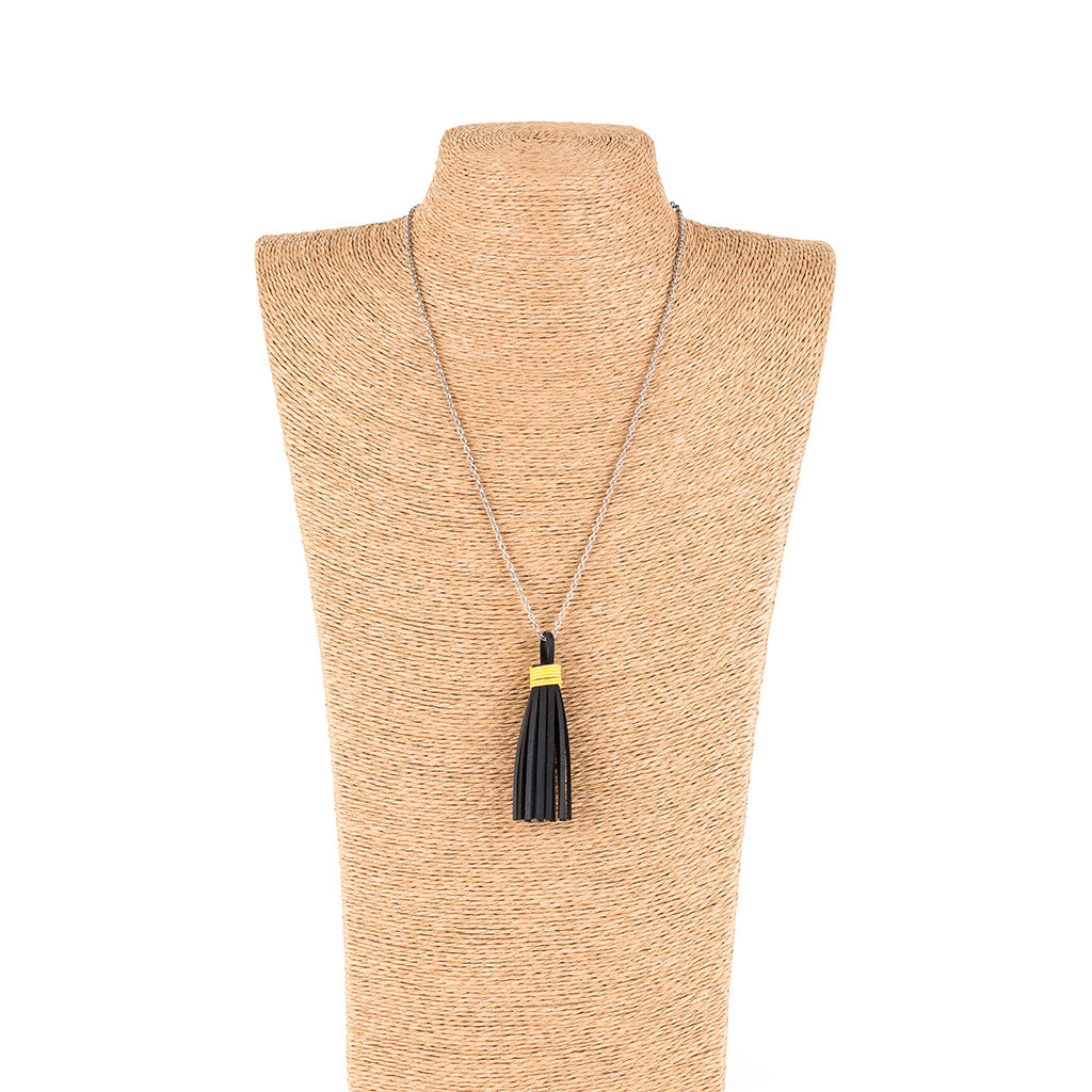Asante Long Tassel Necklace by Paguro Upcycle