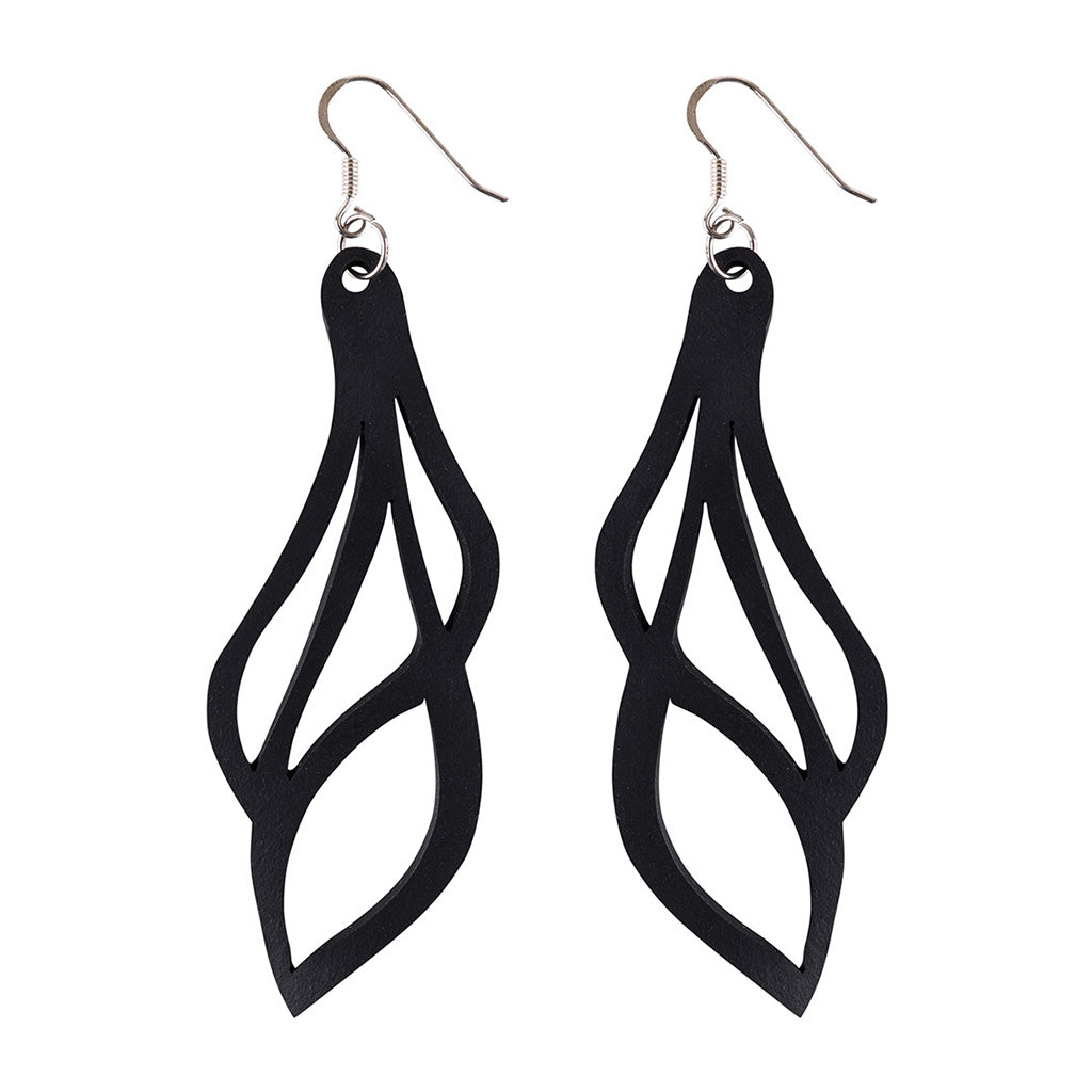 Vine Lightweight Inner Tube Earrings by Paguro Upcycle