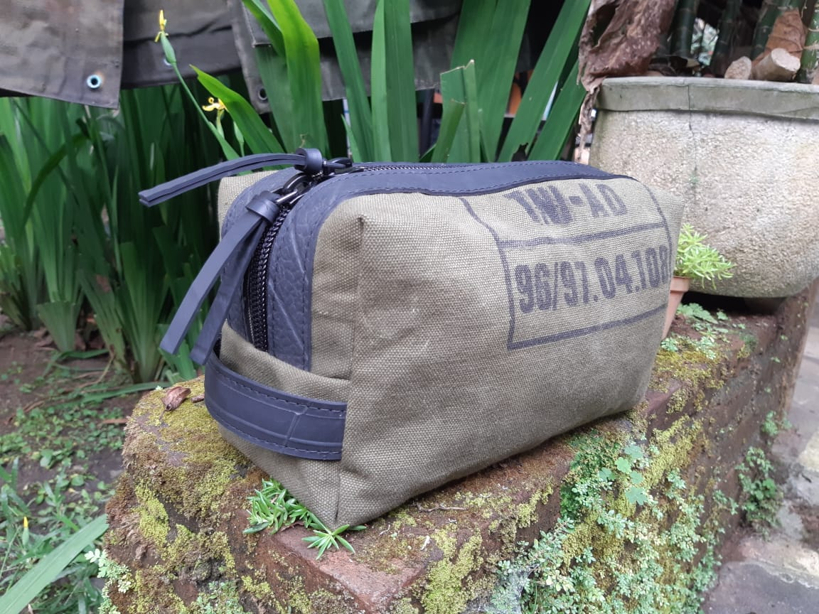 Nova Waterproof Vegan Travel Pouch & Toiletry Bag by Paguro Upcycle