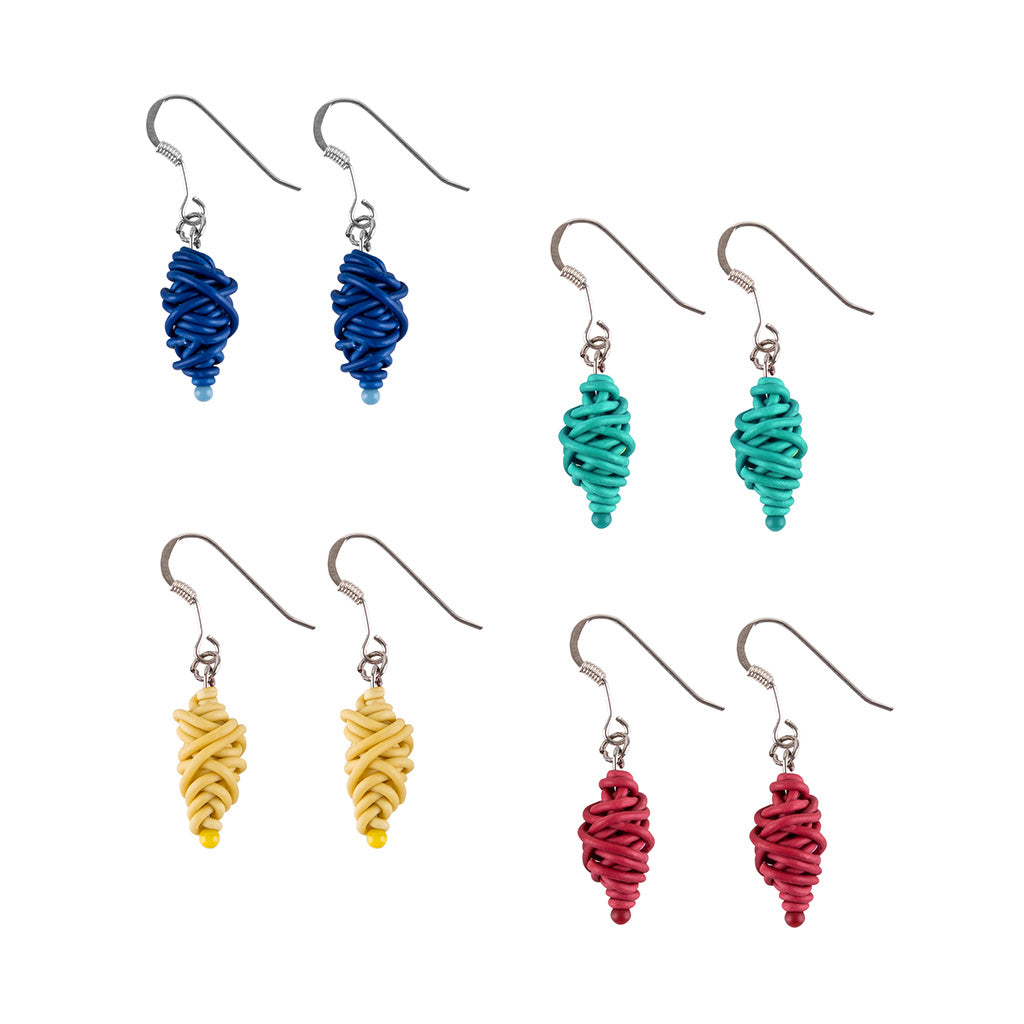 Isla Recycled Electrical Wire Earrings (4 Colours Available) by Paguro Upcycle