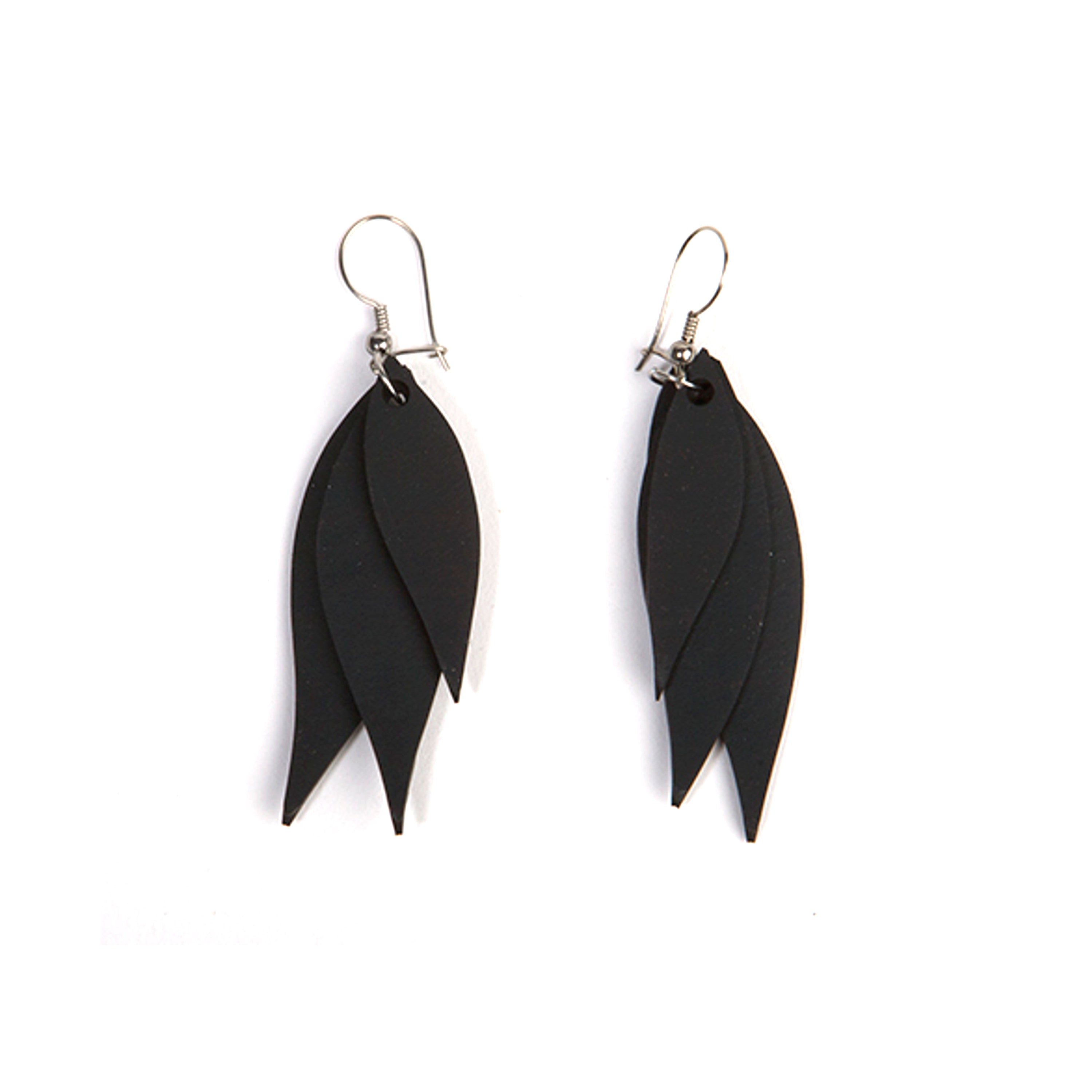 Flake Recycled Rubber Earrings
