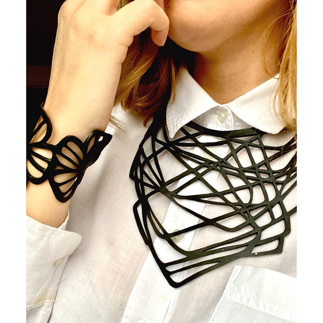 Orion Rubber Necklace by Paguro Upcycle