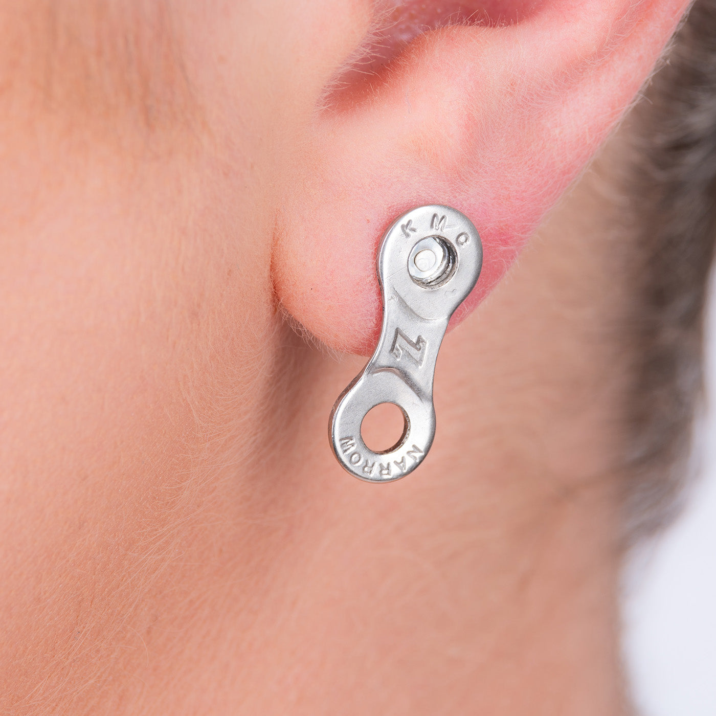 Bike Chain Link Stud Earrings by Paguro Upcycle