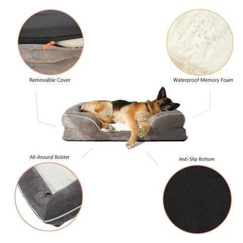 Suede Orthopedic Memory Foam Pet Sofa
