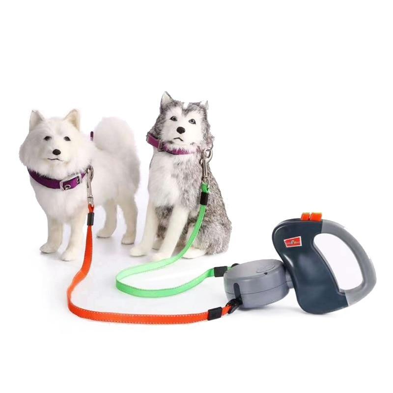 Tangle-Free Retractable Dual Dog Leash