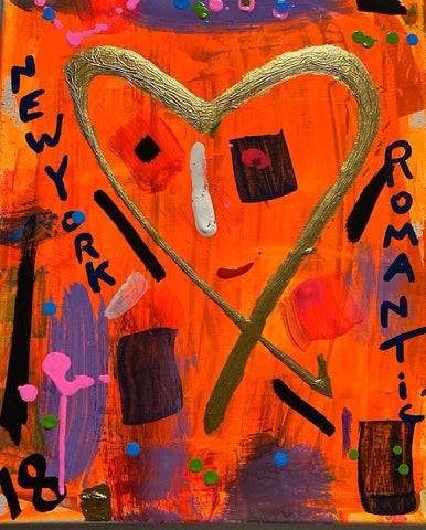 """Heart Person""  Acrylic And Oil Paint On Canvas - Gem Spa NYC"