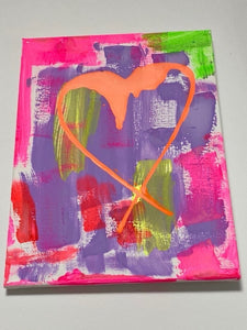 """Graffiti Heart"" Acrylic on Canvas"