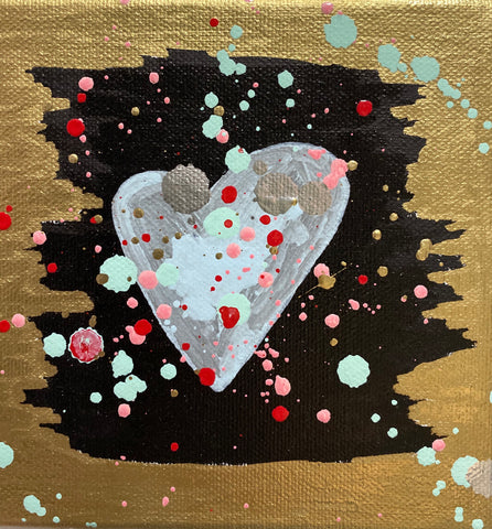 """Heart Cosmos"" Oil Paint On Canvas - Gem Spa NYC"