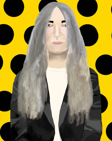 PATTI SMITH print by artist Ramona Boyd - Gem Spa NYC