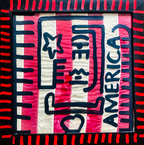 America - Original Art by Billy The Artist NYC