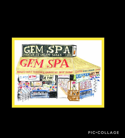 GEM SPA DRAWING by Joel Holland - Gem Spa NYC