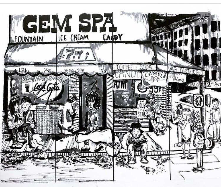 Gem Spa Drawing By Janie Peacock