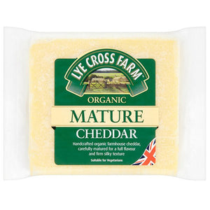 Organic Mature Cheddar Cheese 245g