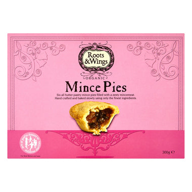 Mince Pies - Organic - Roots and Wings X6 - 300g