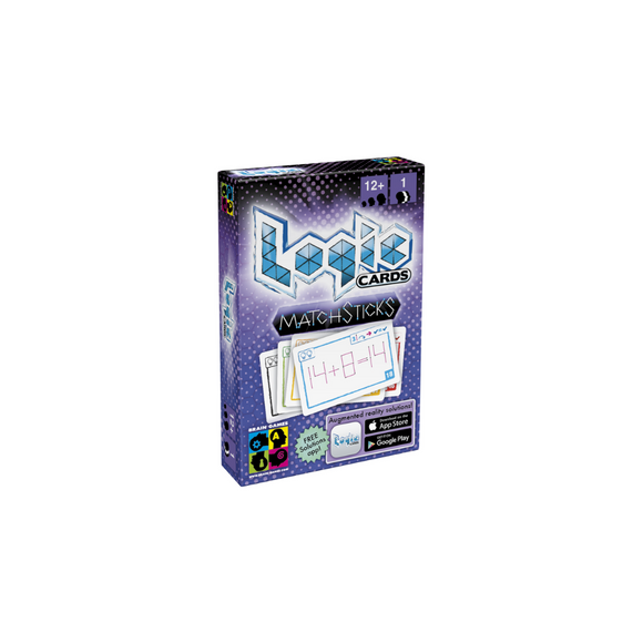 Logic Cards Matchsticks - Math Brain Teaser Card Game