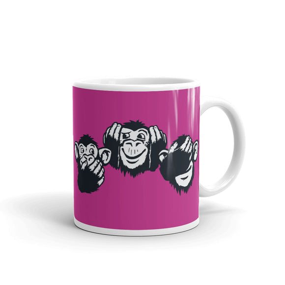 TEAM3 Monkeys | Pink | Mug