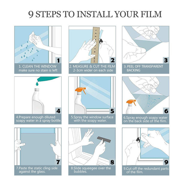 How to install window film