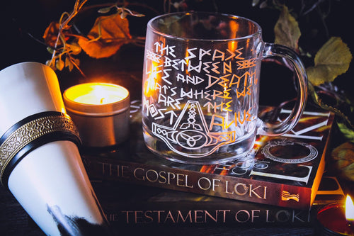 Norse Viking Glass Mug