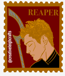 The Reaper Stamp enamel pin