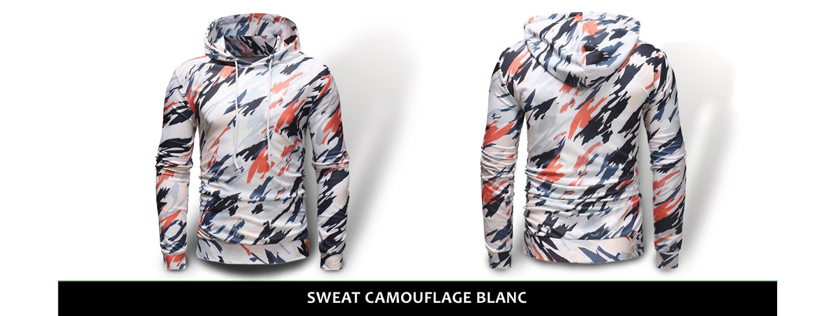 Sweat Camouflage Hiver Blanc