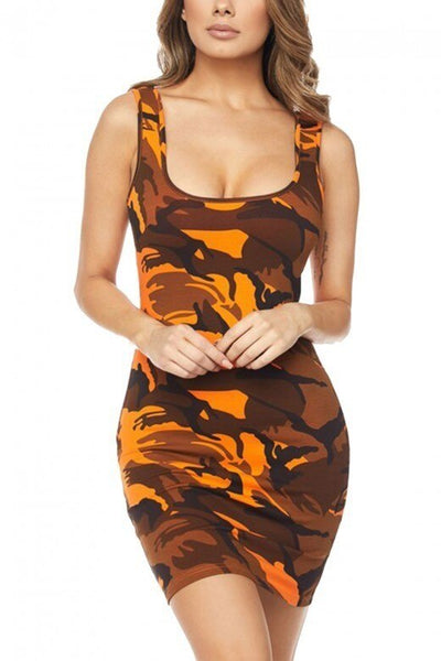 ROBE CAMOUFLAGE IMPRIME<br> POUR FEMME STYLÉE