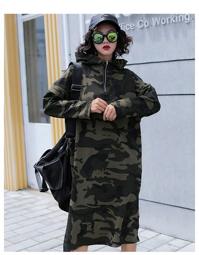 Robe Longue Sweat Camouflage Jungle