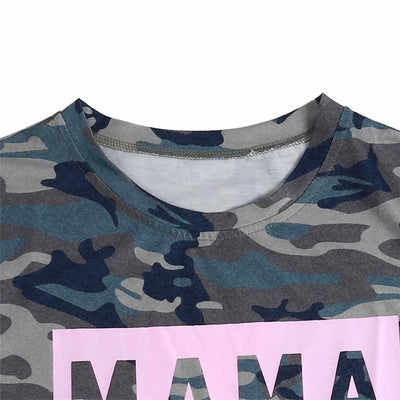 T-SHIRT CAMOUFLAGE FEMME<br> STYLE STREETWEAR