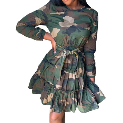 Robe Motif Camouflage