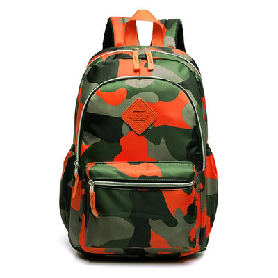 Sac à Dos Camouflage Orange Scolaire