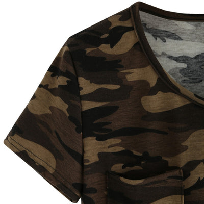T-SHIRT CAMOUFLAGE FEMME<br> COUPE LARGE