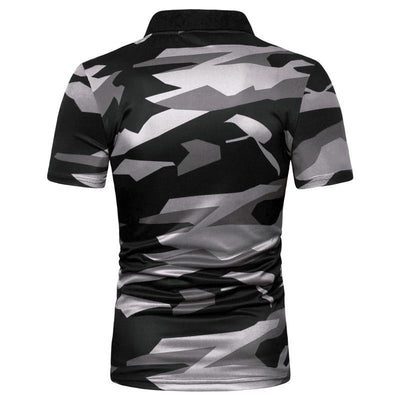Polo Gris Camouflage pour Homme