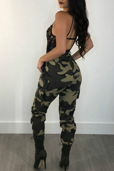 La Mode Streetwear Camouflage en Pantalon Cargo Jungle