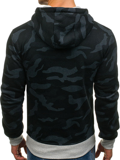 Sweat Camouflage Noir Street Wear