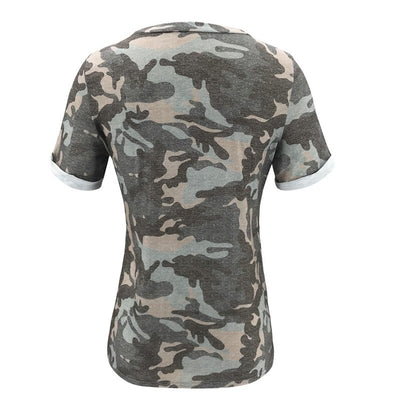 T-SHIRT CAMOUFLAGE FEMME MULTICOLORE