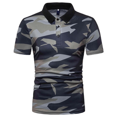 T-SHIRT CAMOUFLAGE<br> POLO HOMME
