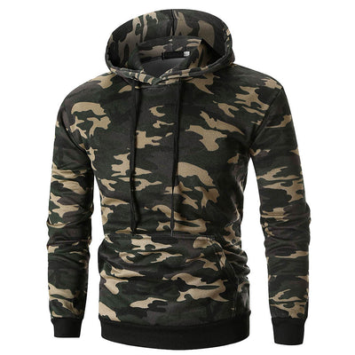 Hoodie Stylé Homme à Camouflage Désert