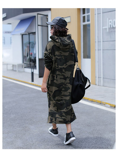 Robe Sweat Streetwear Camouflage