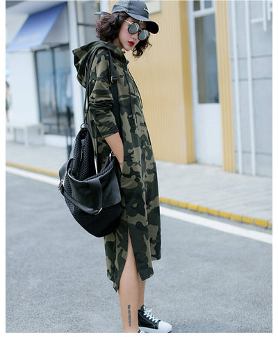 Robe Sweat Camouflage Fashion