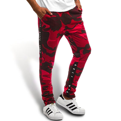 Jogging Rouge Motif Camouflage Homme