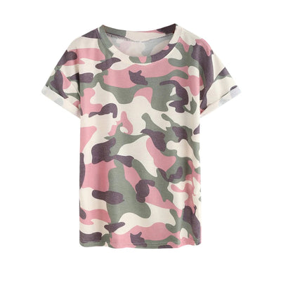T-shirt Camouflage Rose